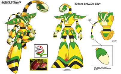 Concept Art: Digger Dionaea by Exerionz