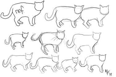 Cat Studies 1 by Lemmiwinkx