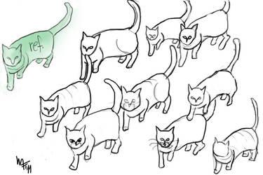 Cat Studies by Lemmiwinkx