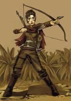 Scarlet the Halfling by DoodleBuggy