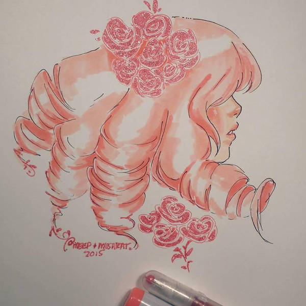 I was really feeling in the mood to try out my Copics. I only have so many colors and the ones I have fit perfectly with Rose quartz from Steven Universe, I hope you all like it! I was worried the ...