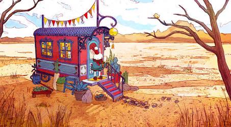 Desert Gardener by shwippie