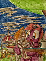 MLP: Story time with tiny Sketch Pad by Paladin360