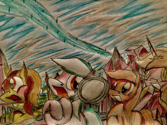 MLP: Sketch Pad, smacking with her pan by Paladin360