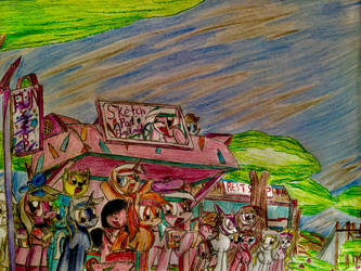 MLP: Sketch Pad fun land bus stop by Paladin360
