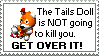 Tails Doll Stamp by carrehz