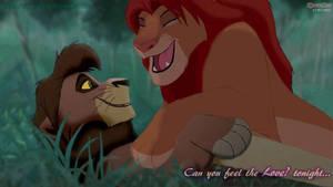 Can you feel the Love ? tonight.. Simba and Kovu by KovuOat