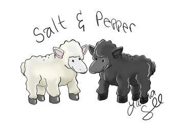 Salt n Pepper Sheep Shakers by lorikitty