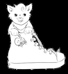 Sneaker Kitty by lorikitty