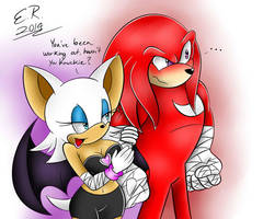 KnuXouge: Been Working Out by Shadow4one