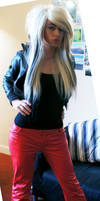 Red Leather Jeans by ZaraKane