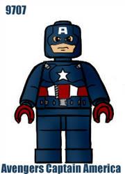 Lego Captain America by webhead9707