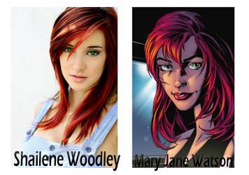Mary Jane Watson-Shailene Woodley by webhead9707