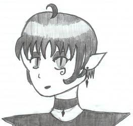 Little goth elf by chrissythecat
