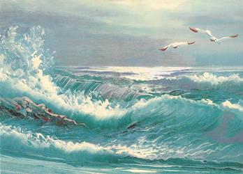 sea postcard by chrissythecat