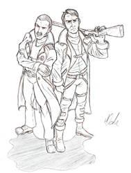 Cliff Donovan and Rex Wingo by Treelub