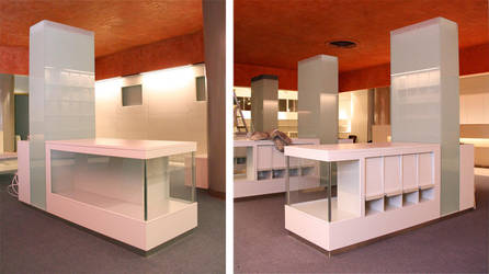 Touristagency - display case by Myana