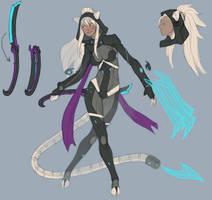 Rough - Cyber Cat Ninja by splatpixel