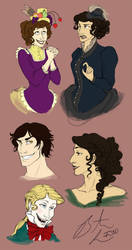 Parasol Protectorate Sketches by Terrizae