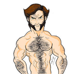 Wolverine Shirtless by Kryptoniano