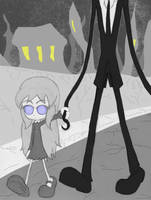 Walking with a Slender Friend by Blitzkrieg1701