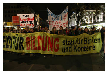 Student Protests in Vienna by l-rs