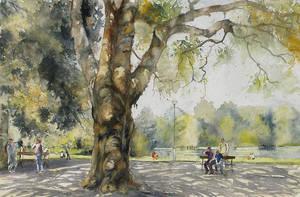 W parku pod platanem by modliszqa