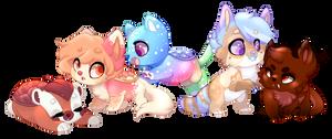 Nay's New pups by FluffleBear