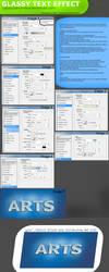 Glassy Text tutorial by UJz