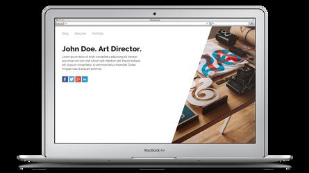 Minimal Personal Webpage HTML Theme (Free) by UJz