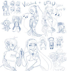 UTAUVocaloid sketchdump 1 by Mooncrafter