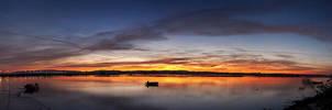 Sunrise Pano by Peug