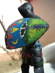 Moldavian courtier - shield detail by AlanusRex