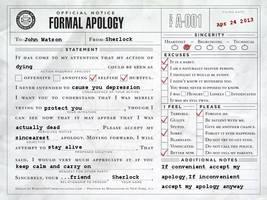 Sherlock apology by Sherlocked157