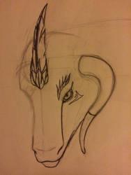 Mother of flame sketch by BlackShadow6202