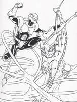 Reptilian vs Longjohn+cricket by Silverback1
