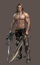 Arthas with swords by scourge-minion