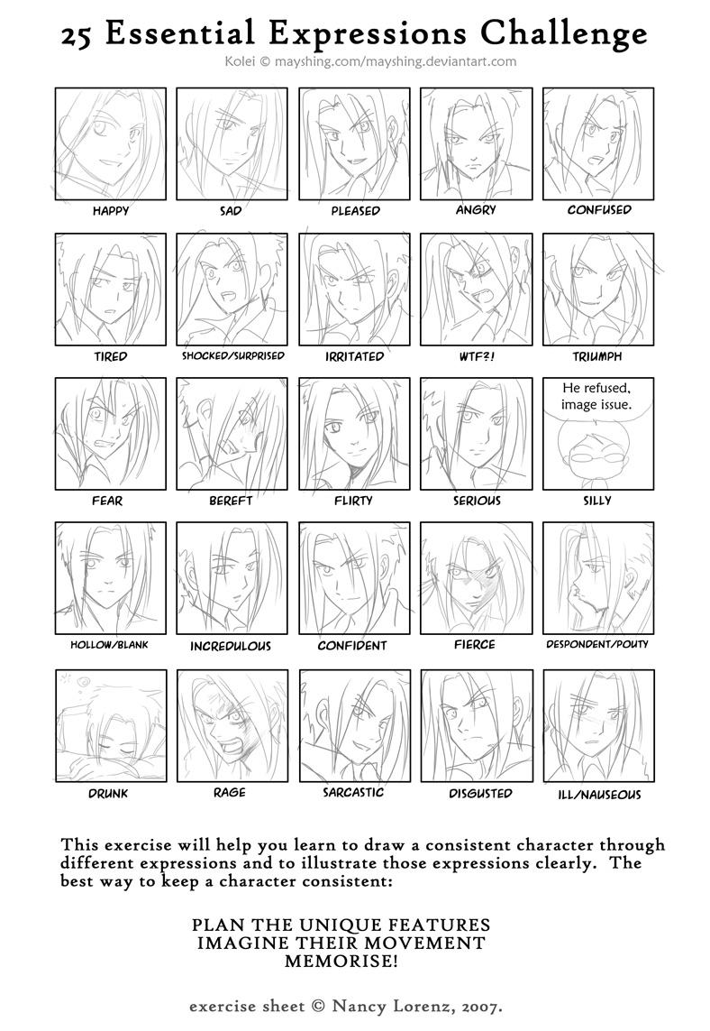 25 expressions- Kolei by mayshing
