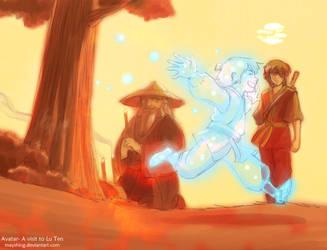 Iroh and Zuko visit Lu Ten by mayshing