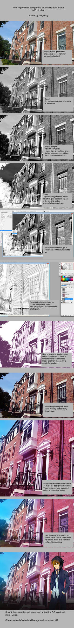How to make lineart  out of photos by mayshing