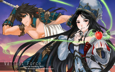 Valiant Force: Snow White and Drake the Dragoon by mayshing