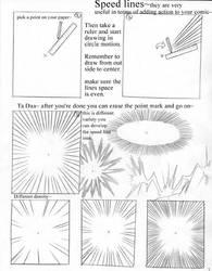 Anime Art lesson Speedlines by mayshing