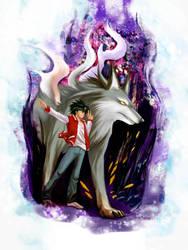 Commission-Usagi and Okami by mayshing
