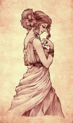 A Lady's Profile by Ahmigad
