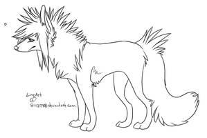 Scene Dog Lineart by bit121788