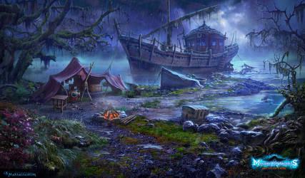 Longboat by sergeilameiko