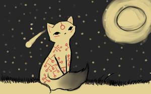 Okami Style Cat by Umberondrawer