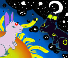 Night and Day Rabbits by Umberondrawer