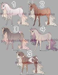 Horse Adopts (0/5) - CLOSED by GlitchedPanda