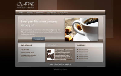Coffee beans - web design by MichalSadilek